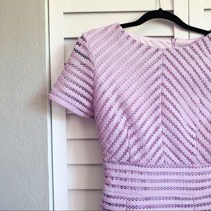 Boohoo mesh midi skater pleats lavender dress